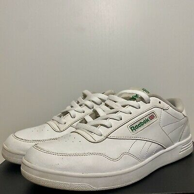 SIZE 8 white and green squash shoes