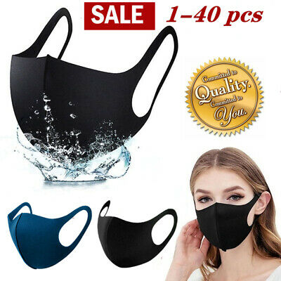 NEW 3D Unisex Face Mask Washable Reusable Breathable US Seller 5 Colors LOT