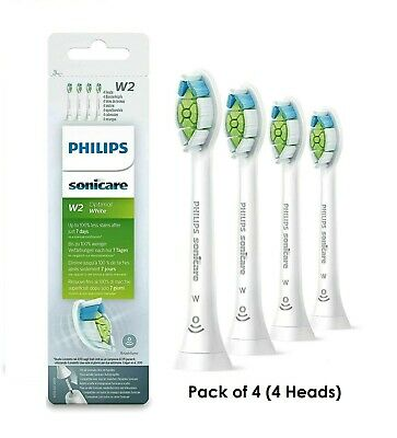 Philips Sonicare W2 HX6064 Optimal White Electric Toothbrush Heads 4 Pack UK