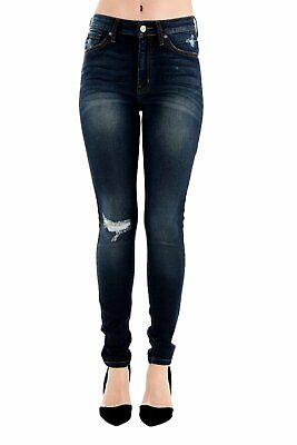 kc7317 KANCAN WOMEN/'S HIGH WAIST ANKLE LENGTH TWO BUTTON JEANS