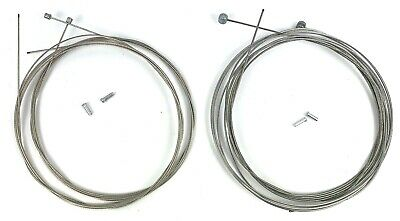 Shimano Stainless Steel Cable Set Road Bikes 2 x Gear Caps 2 x Brake Cables