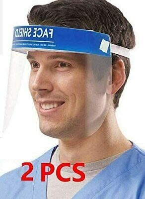 Safety Face Shield 2 Pack, All-Round Protection Cap with Clear Wide Visor Spitti
