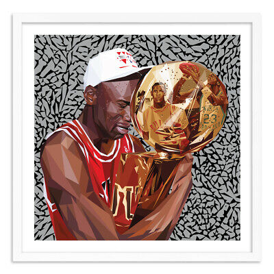 "Michael Jordan NATUREL ""Trophy Love"" poster topps project 2020 artist #d/45 RARE"