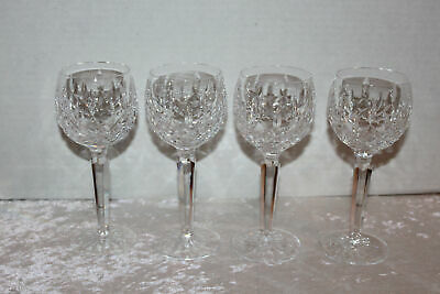 4 Vintage Waterford Crystal Lismore Balloon Wine Glasses Stems