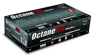 Case of 10 Boxes (100ct)Octane HD 6mil Black Nitrile Gloves M-XL Available!