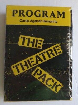 RARE 3 SET CARDS AGAINST HUMANITY THEATER C2E2 2018 19 20 PROGRAM SCHEDULE CAH