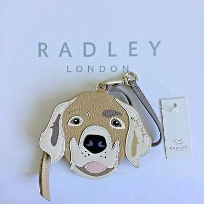 Radley Radley and Friends Beagle Coin Purse Wallet in Dark Natural Leather