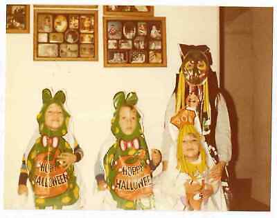 Vintage 80s PHOTO Little Twin Boys & Girls in Halloween Costumes