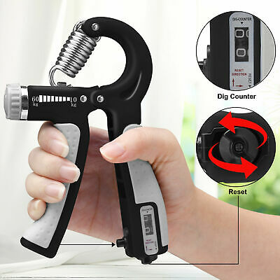 10-60kg Hand Strength Power Grip Adjustable Wrist Forearm Exercise Hands Counter