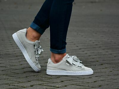 Puma Platform Galaxy Grey Suede Low Lace Up Womens Trainers