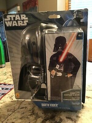 Child Deluxe Darth Vader Costume Usa Size 8-10 Nos