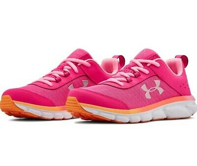 Black//Pink Girl/'s Under Armour /'Micro G Assert Vi/' Running Shoe Size 5 Youth