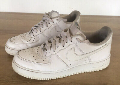 NIKE AIR FORCE 1 AF1 Lo White Trainers