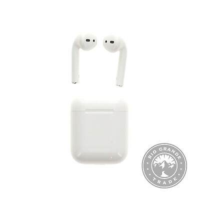 USE Apple Air Pods in White with Wired Charging Case - Double-Tap to Play