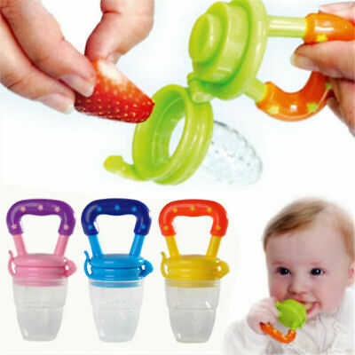 Baby Feeding Pacifier Fresh Food Fruits Safe Feeder Dummy Soother Weaning Nipple