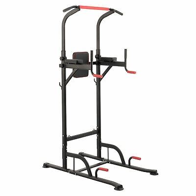 Dip Station Pull Up Bar Power Tower Fitness Home Exercise Equipment Machine UK
