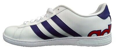 ADIDAS NEO DERBY ll Mens Trainers in white/navy/red - £36.49 ...
