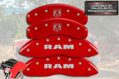 MGP Caliper Covers Set of 4 RAMHEAD Engraving For 2011-2018 Ram 1500-Red