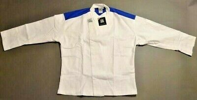 "New Chef Revival ""Metro"" Chef's Jacket Poly/Cotton Cloth.  SIZE: SM.  Blue Yoke."