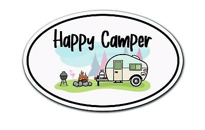 # 1225 Happy Camper Decal Sticker for Car Window Laptop and More