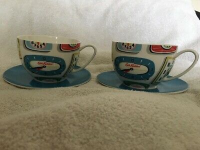 Cath Kidston Clocks Breakfast Cups And Saucers Set Of Two