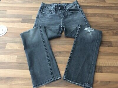 Boy Gap Distressed Grey Regular Straight Fit Jeans Age 12 With Adjustable Waist.