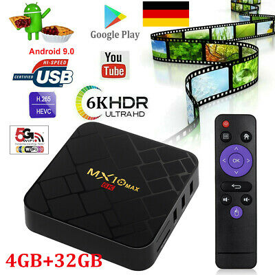 X10Plus 6K 4+32G Android 9.0 Pie Smart TV Box Quad Core WIFI Media Player HDMI