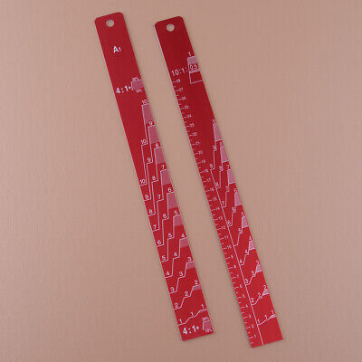 Auto Coating Mixing Scale Measuring Stirring Sticks Paint Ruler
