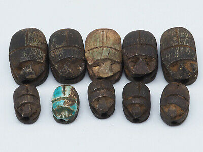 Extremely Rare Egyptian Ancient Scarabs Wonderful Collection Lot #A150