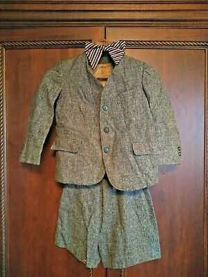 Antique Wool Sunday Outing Suit Jacket Shorts SET Howdy Doody Theatre