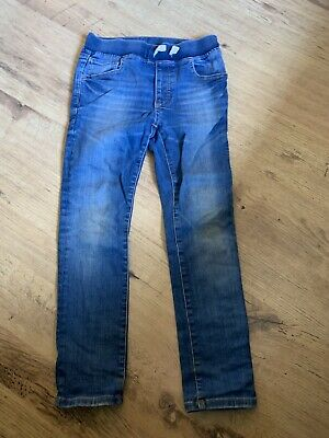 Gap Boys Blue Regular Fit Demin Jeans With Elasticated Waist Size Medium 8 Years