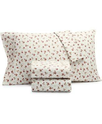 Martha Stewart Collection Printed Flannel 3 Pc King Sheet Set Ditsy Floral 60 29 99 Picclick