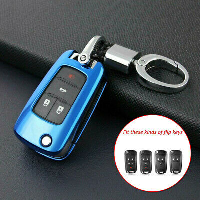 Smart Flip Car Blue Remote Key Shell Case Strong Signal For Chevrolet Buick