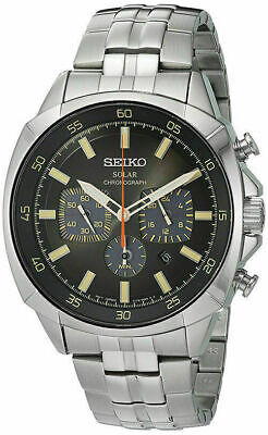 Seiko Recraft Chronograph Mens Solar Watch SSC511