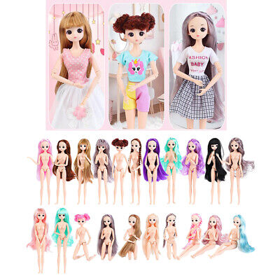 12 Inch 1:6 Scale BJD Girl Doll Naked Body with Hair Makeup Doll Making