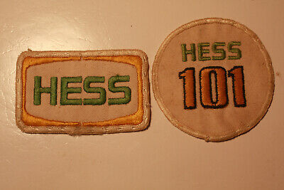 """HESS GASOLINE Embroidered Iron On Uniform-Jacket Patch 3.25/"""" x 2/"""""""