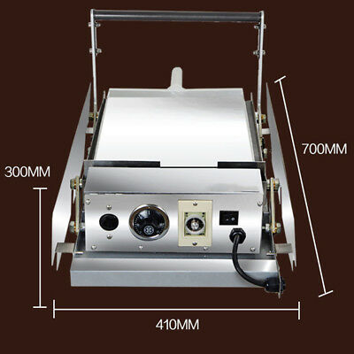 Intbuying Double Commercial Hamburger Toaster Machine Stainless Steel 220V 2200W