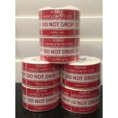 "(6-Rolls 500 Labels) 3000 2x3"" Sticker **Please Handle With Care--DO NOT DROP**"