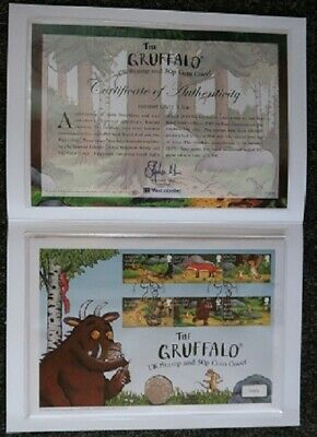 The Gruffalo and Mouse UK Stamp and Coin Cover 2019 limited edition