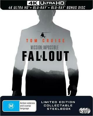 Mission Impossible - Fallout (4K Ultra HD + 2 Disc Blu-ray) STEELBOOK Rare OOP!