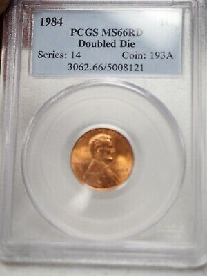 1984 1C RD Lincoln Memorial One Cent  PCGS MS66RD  Doubled Die