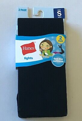 Hanes Gripper Foot Baby Girls Winter White Tights Size 0-9 Mos 2 Pair Set Infant