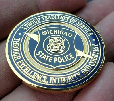 Michigan State Police Trooper Challenge Coin Rare Authentic