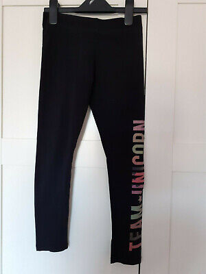 Girls Team Unicorn Active Wear Leggings Gym Bottoms From Primark Size 8-9 Years
