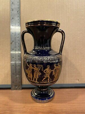 """Greek Pottery Vase. 7"""" Hand Made In Greece"""