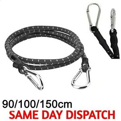 1M STRONG STRETCHED BUNGEE LUGGAGE CORD STRAPS TIES GOLF~CAR ROOF~BIKE~SUITCASE