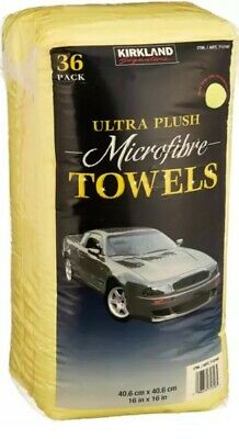 Kirkland 40cm Microfibre Ultra Plush Soft Microfiber Towels Cloth 36 Pack