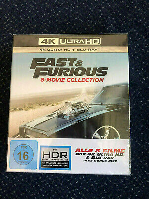 Fast & Furious - 8-Movie Collection  Bluray 4K Ultra HD 8 Movie Collection NEU