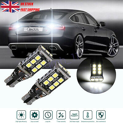 2PS For Honda Civic MK7 White Side Light Parts 15-SMD Bulbs Canbus Parking Beam