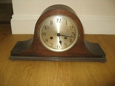 Vintage Napoleon Hat Mantle Clock With Chime
